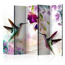 Paraván - Hummingbirds and Flowers II [Room Dividers] 5 részes 225x172 cm