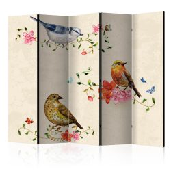 Paraván - Bird Song II [Room Dividers] 5 részes 225x172 cm