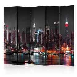 Paraván - Insomnia in New York II [Room Dividers] 5 részes 225x172 cm