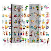 Paraván - Cartoon Pets II [Room Dividers] 5 részes 225x172 cm