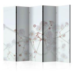 Paraván - White Flowers II [Room Dividers] 5 részes 225x172 cm
