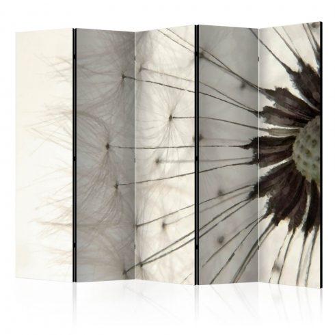 Paraván - White Dandelion II [Room Dividers] 5 részes 225x172 cm  -  ajandekpont.hu