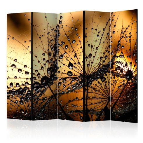 Paraván - Dandelions in the Rain II [Room Dividers] 5 részes 225x172 cm  -  ajandekpont.hu