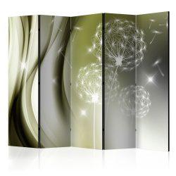Paraván - Green Gentleness II [Room Dividers] 5 részes 225x172 cm