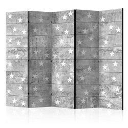 Paraván - Stars on Concrete II [Room Dividers] 5 részes 225x172 cm
