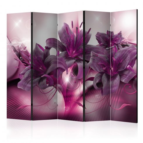 Paraván - The Purple Flame II [Room Dividers] 5 részes 225x172 cm  -  ajandekpont.hu