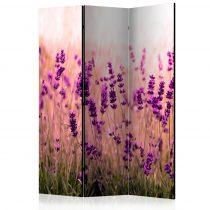 Paraván - Lavender in the Rain [Room Dividers] 3 részes  135x172 cm