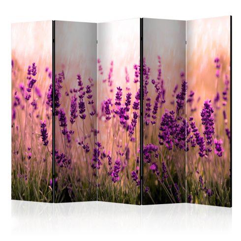 Paraván - Lavender in the Rain II [Room Dividers] 5 részes 225x172 cm  -  ajandekpont.hu