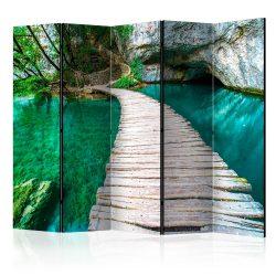 Paraván - Emerald Lake II [Room Dividers] 5 részes 225x172 cm