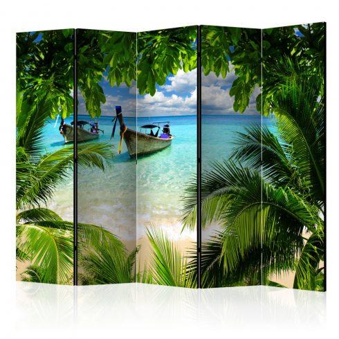 Paraván - Tropical Paradise II [Room Dividers] 5 részes 225x172 cm  -  ajandekpont.hu