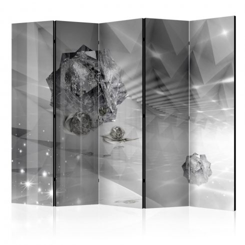 Paraván - Abstract Greyness II [Room Dividers] 5 részes 225x172 cm  -  ajandekpont.hu