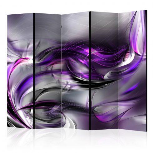 Paraván - Purple Swirls II [Room Dividers] 5 részes 225x172 cm  -  ajandekpont.hu