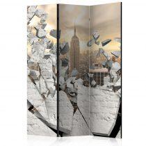 Paraván - City behind the Wall [Room Dividers] 3 részes  135x172 cm