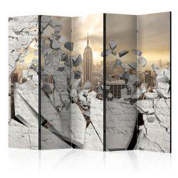 Paraván - City behind the Wall II [Room Dividers] 5 részes 225x172 cm