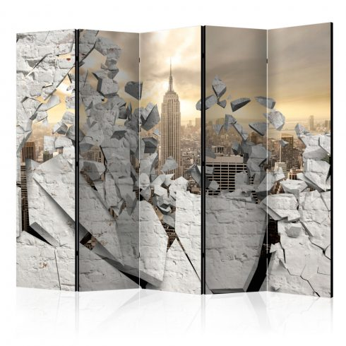 Paraván - City behind the Wall II [Room Dividers] 5 részes 225x172 cm  -  ajandekpont.hu