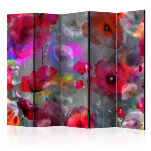 Paraván - Painted Poppies II [Room Dividers] 5 részes 225x172 cm  -  ajandekpont.hu
