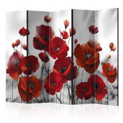 Paraván - Poppies in the Moonlight II [Room Dividers] 5 részes 225x172 cm