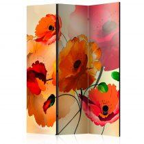 Paraván - Velvet Poppies [Room Dividers] 3 részes  135x172 cm