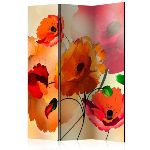 Paraván - Velvet Poppies [Room Dividers] 3 részes  135x172 cm  -  ajandekpont.hu