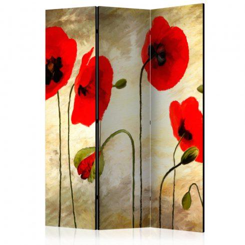 Paraván - Golden Field of Poppies [Room Dividers] 3 részes  135x172 cm  -  ajandekpont.hu