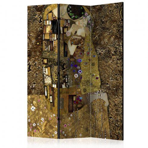 Paraván - Golden Kiss [Room Dividers] 3 részes  135x172 cm  -  ajandekpont.hu