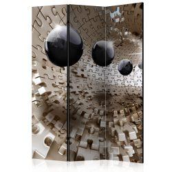 Paraván - Golden Jigsaw [Room Dividers] 3 részes  135x172 cm