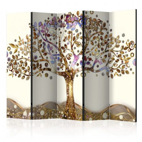 Paraván - Golden Tree II [Room Dividers] 5 részes 225x172 cm  -  ajandekpont.hu
