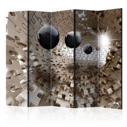 Paraván - Golden Jigsaw II [Room Dividers] 5 részes 225x172 cm