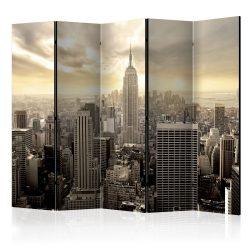 Paraván - Light of New York II [Room Dividers] 5 részes 225x172 cm