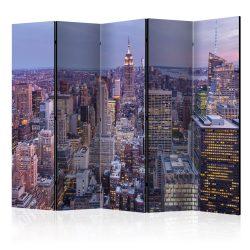 Paraván - Evening City II [Room Dividers] 5 részes 225x172 cm