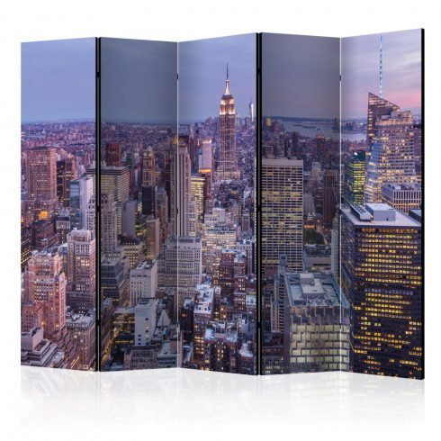 Paraván - Evening City II [Room Dividers] 5 részes 225x172 cm  -  ajandekpont.hu