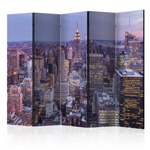 Paraván - Evening City II [Room Dividers] 5 részes 225x172 cm  -  ajandekpont.hu