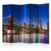 Paraván - Blue New York II [Room Dividers] 5 részes 225x172 cm