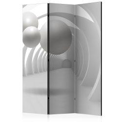 Paraván - White Tunnel [Room Dividers] 3 részes  135x172 cm