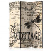Paraván - Vintage Correspondence [Room Dividers] 3 részes  135x172 cm