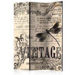 Paraván - Vintage Correspondence [Room Dividers] 3 részes  135x172 cm  -  ajandekpont.hu