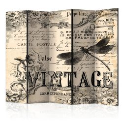 Paraván - Vintage Correspondence II [Room Dividers] 5 részes 225x172 cm
