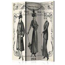Paraván - Dress 1914 [Room Dividers] 3 részes  135x172 cm