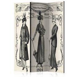 Paraván - Dress 1914 [Room Dividers] 3 részes  135x172 cm  -  ajandekpont.hu