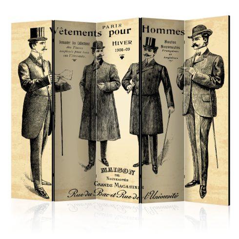 Paraván - Vêtements pour Homme II [Room Dividers] 5 részes 225x172 cm  -  ajandekpont.hu