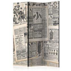 Paraván - Vintage Newspapers [Room Dividers] 3 részes  135x172 cm