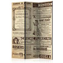 Paraván - Vintage Magazines [Room Dividers] 3 részes  135x172 cm