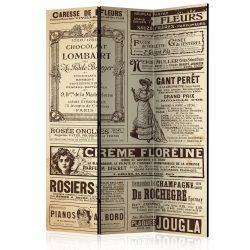 Paraván - Vintage Magazines [Room Dividers] 3 részes  135x172 cm  -  ajandekpont.hu