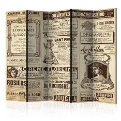 Paraván - Vintage Magazines II [Room Dividers] 5 részes 225x172 cm