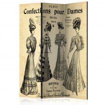 Paraván - Confections pour Dames [Room Dividers] 3 részes  135x172 cm