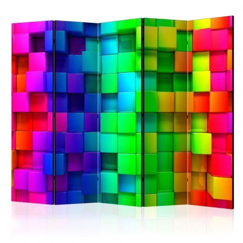 Paraván - Colourful Cubes II [Room Dividers] 5 részes 225x172 cm  -  ajandekpont.hu