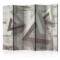 Paraván - Grey Trio II [Room Dividers] 5 részes 225x172 cm
