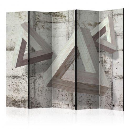 Paraván - Grey Trio II [Room Dividers] 5 részes 225x172 cm  -  ajandekpont.hu