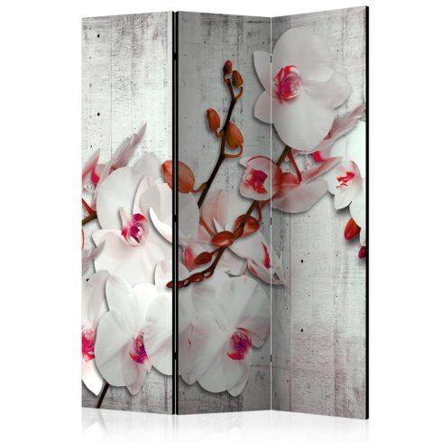 Paraván - Concrete Orchid [Room Dividers] 3 részes  135x172 cm  -  ajandekpont.hu