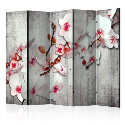 Paraván - Concrete Orchid II [Room Dividers] 5 részes 225x172 cm  -  ajandekpont.hu
